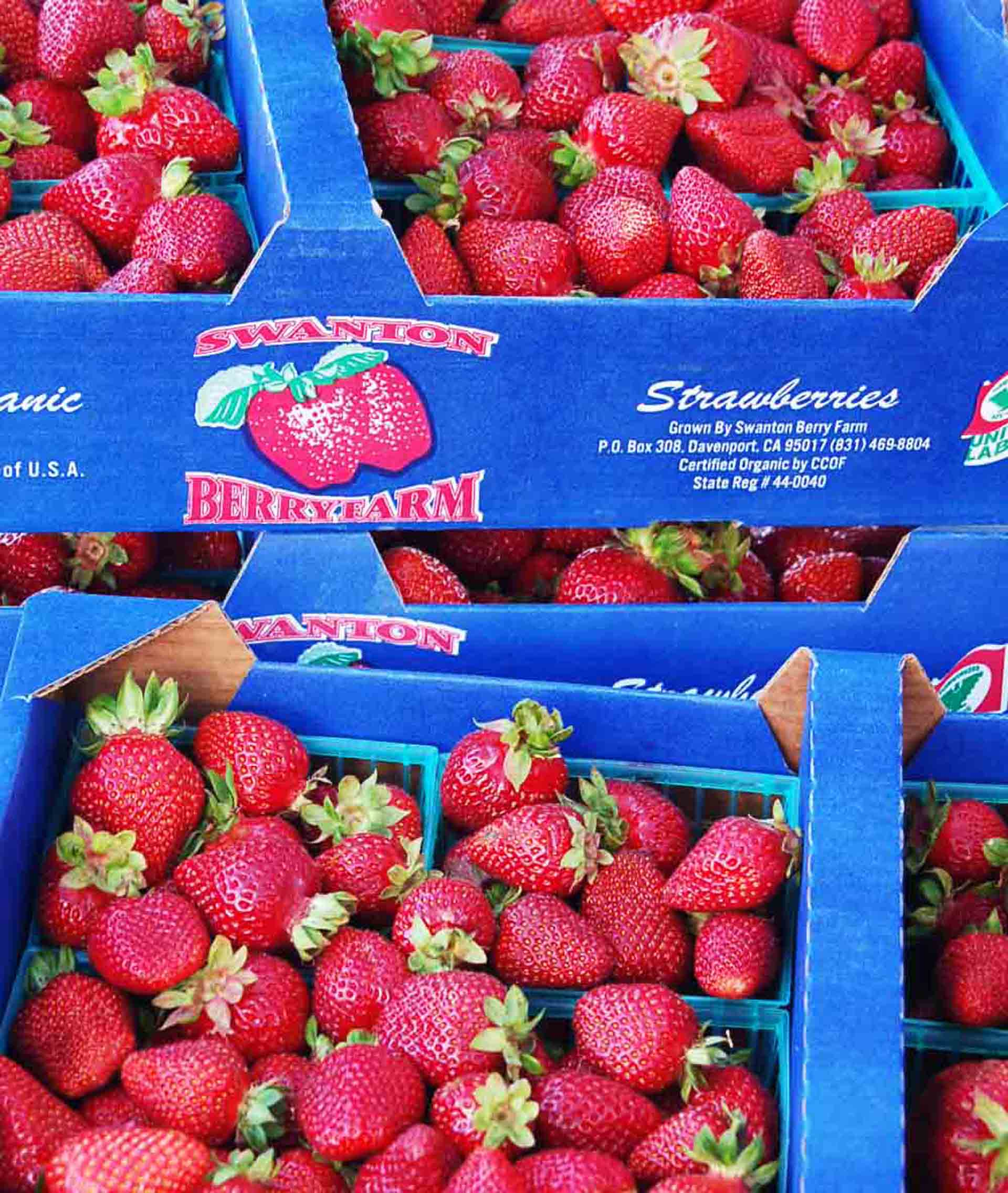 The Chandler berries from Swanton are found at Bay Area farmers markets as well as markets such as Bi-Rite, Monterey Market and Rainbow Grocery, depending on availability.