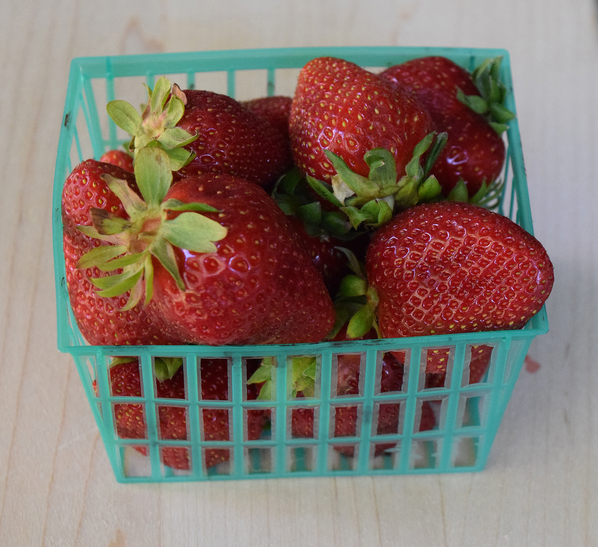 Deep red, perfectly ripe and intensely flavored, the Chandler variety available from Swanton Berry Farm is lower-yield than the Albion variety that organic growers favor.