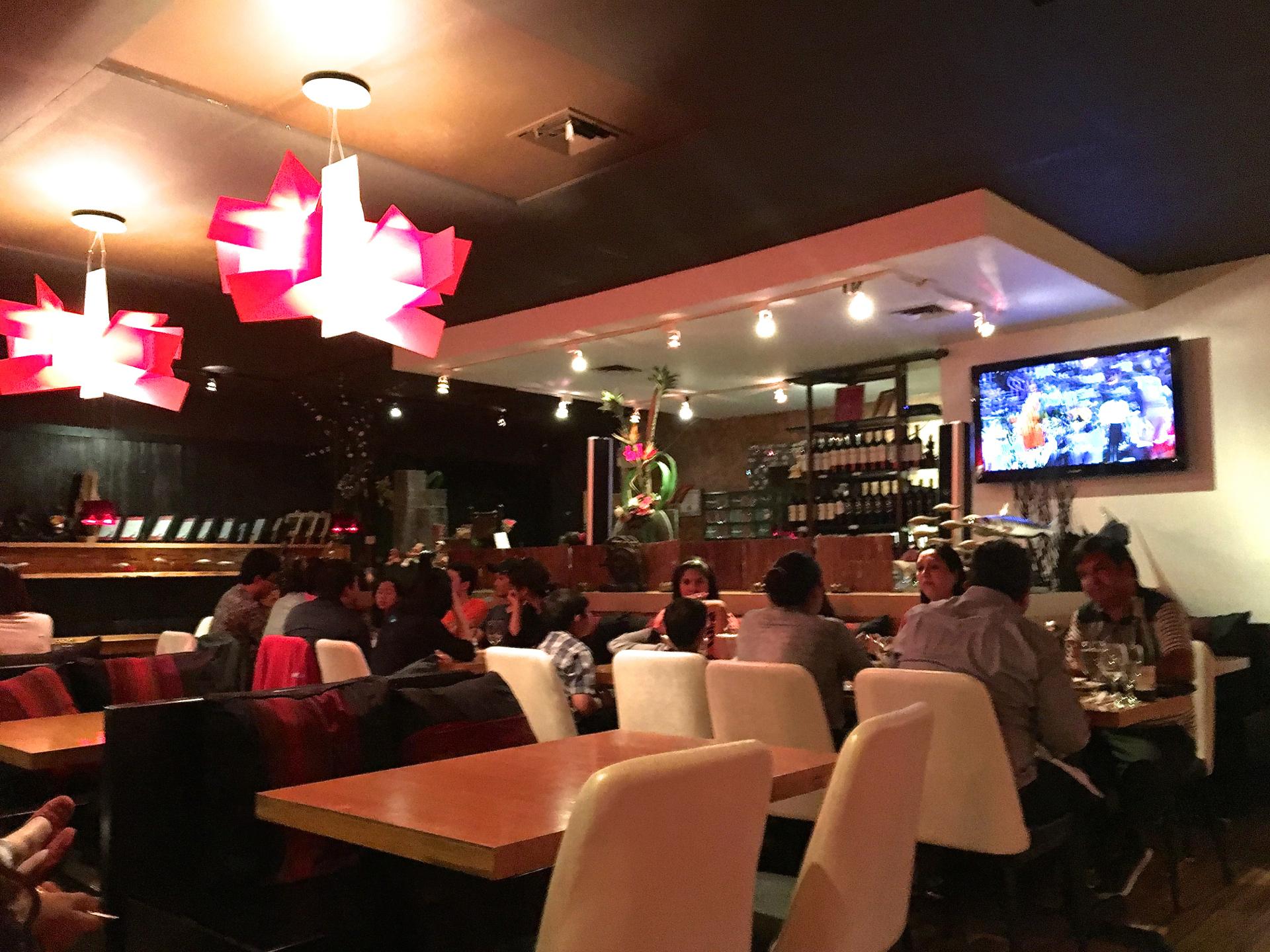 Inside Sweet Basil Thai Cuisine in Foster City.