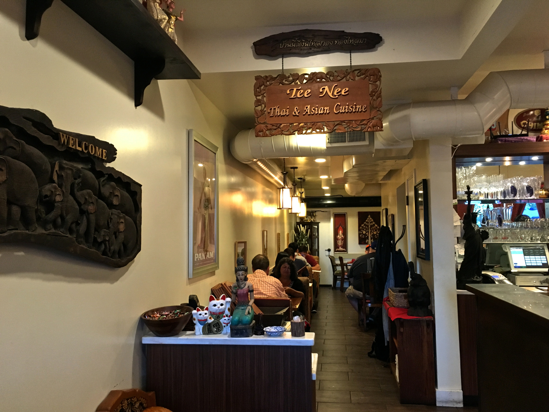 Inside Tee Nee Thai Cuisine in San Jose.