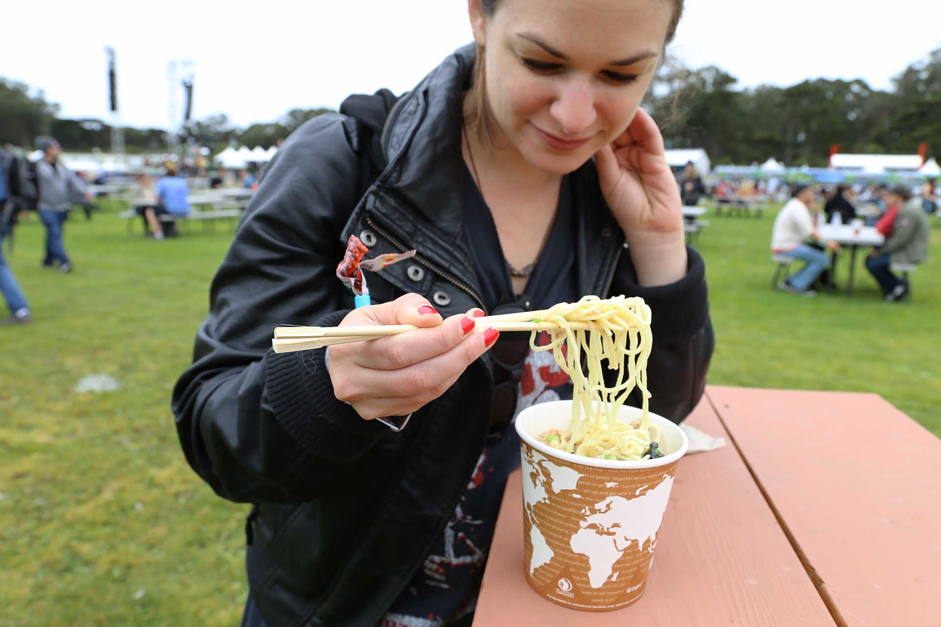 Eating Itani Ramen at Outside Lands