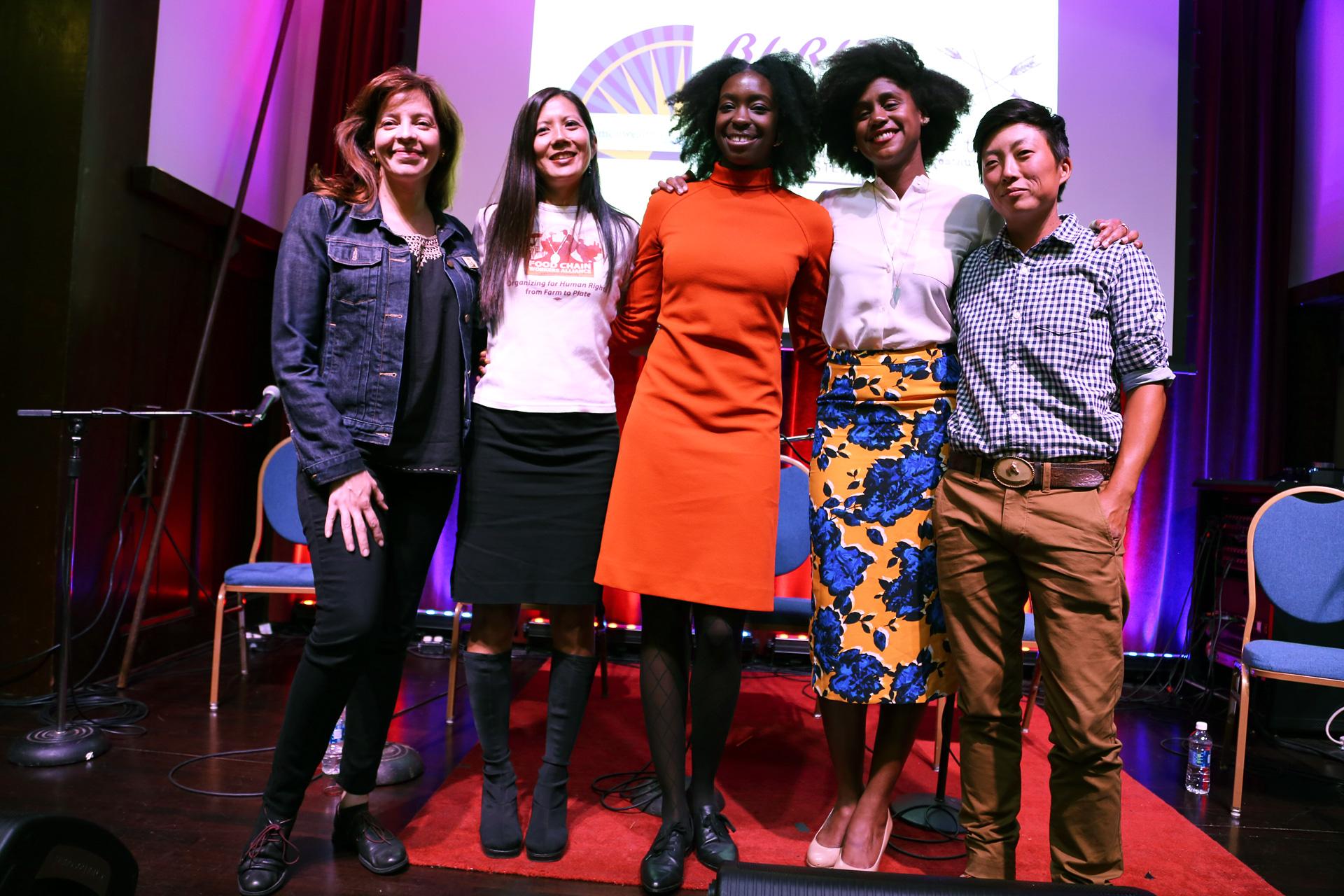 Women Leaders at the Table panel (R to L): Kristyn Leach, Shakirah Simley, Brittni Chicuata, Joann Lo, Dominica Rice Cisneros
