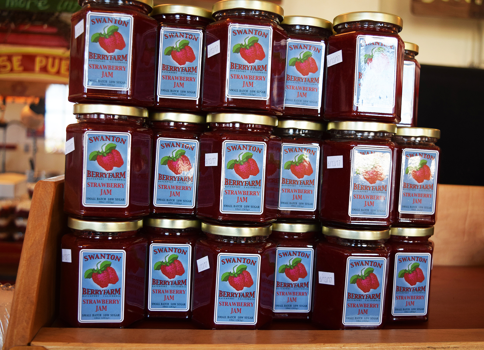 Swanton Berry Farm produces jam made from its fantastic fruit, which is often available at its farmers market stands.