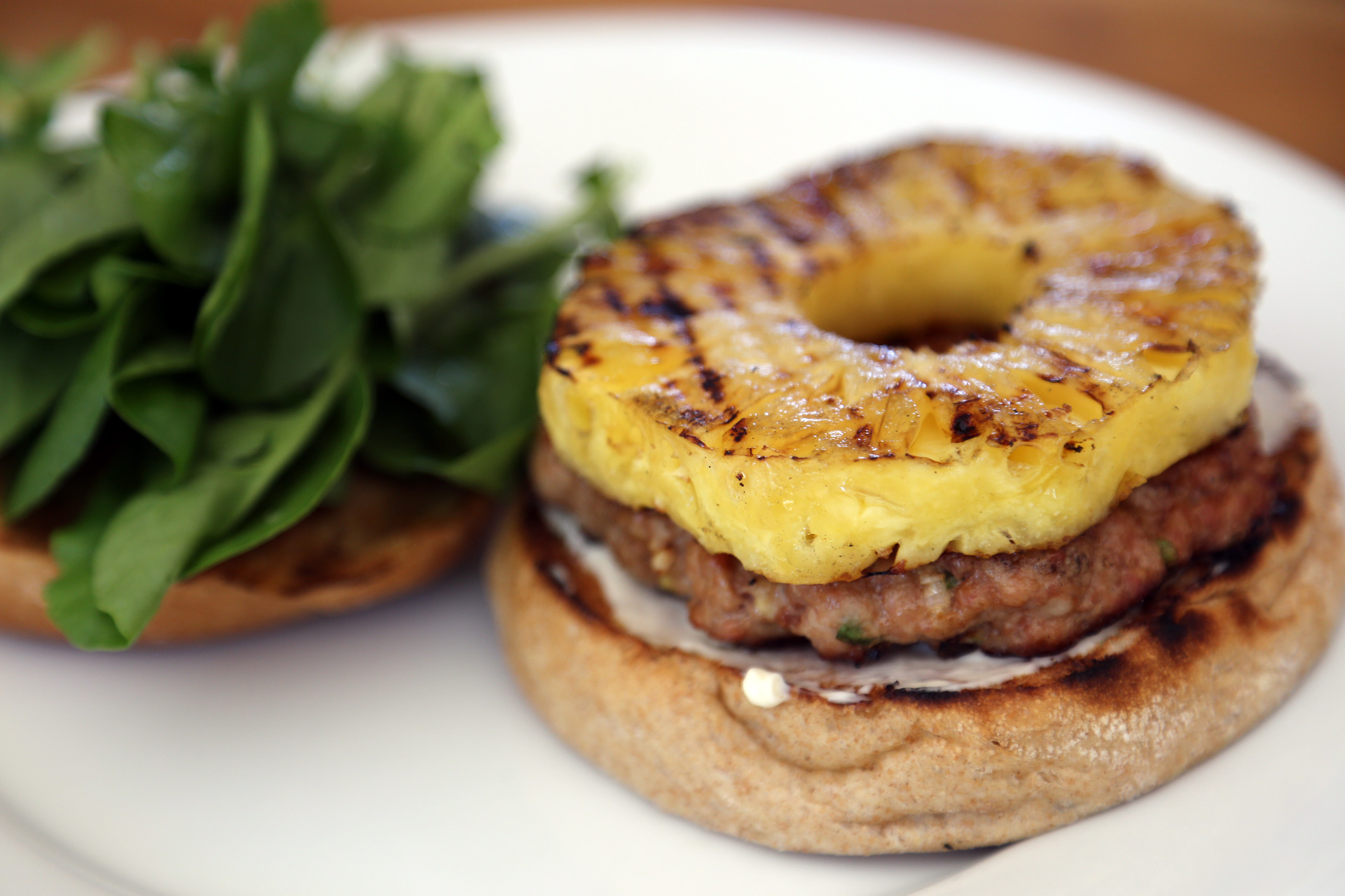 Labor Day Recipe: Sesame-Ginger Pork Burgers with Grilled Pineapple 1 ...