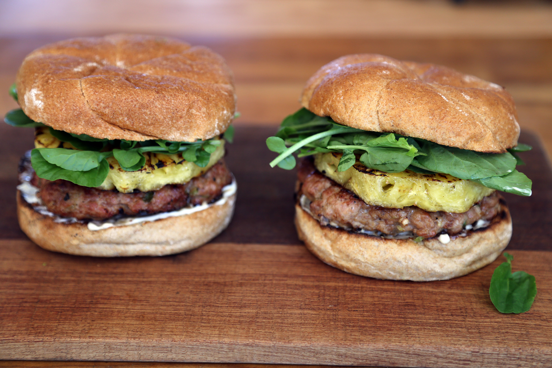 Labor Day Recipe: Sesame-Ginger Pork Burgers with Grilled Pineapple ...