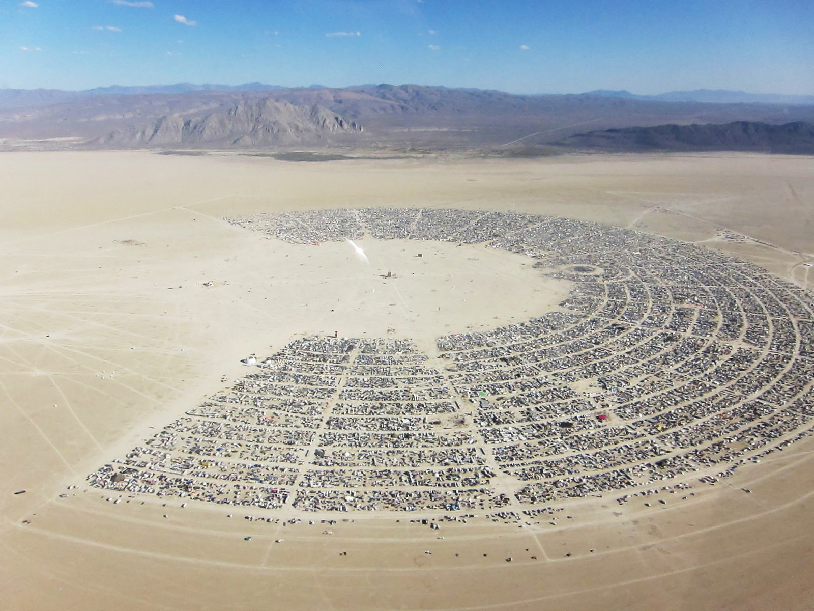 Aerial view of Burning man.