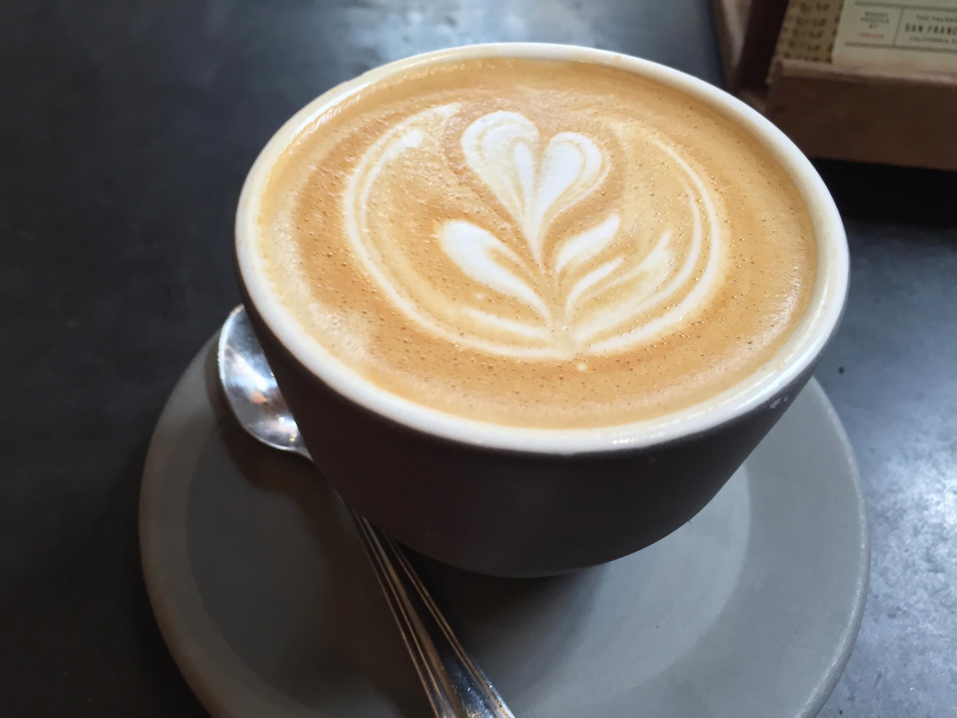 Four Barrel cappuccino