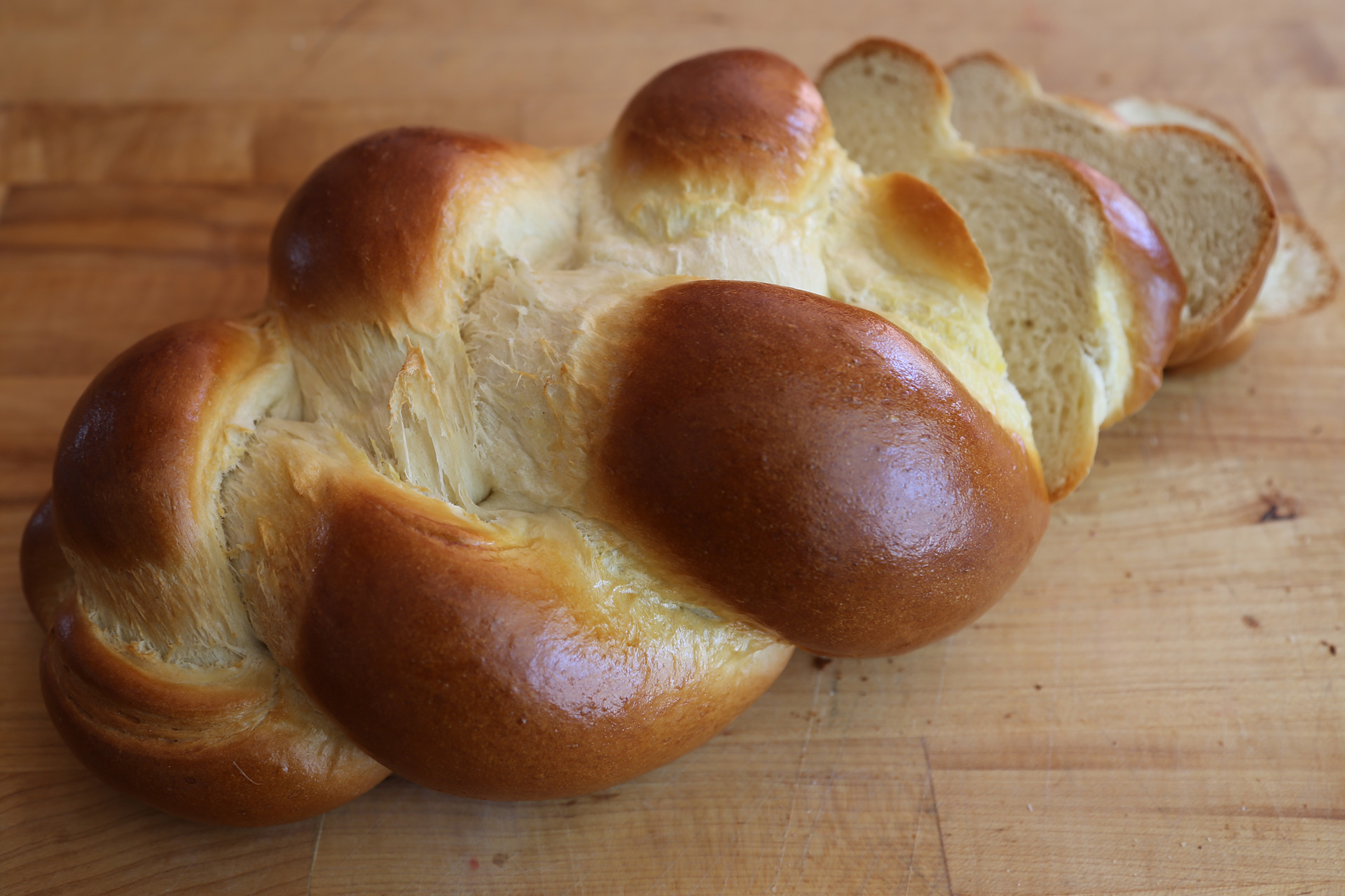 Rich, Eggy, Golden Challah