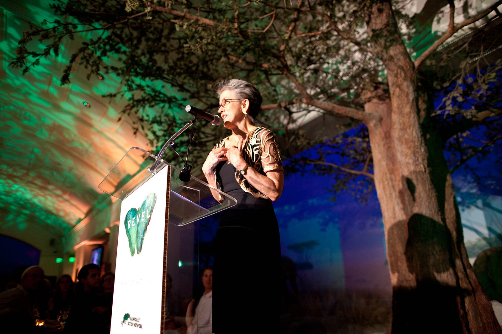 Frances Moore Lappe speaks at a Rainforest Action Network event. When she wrote the best-selling Diet For A Small Planet back in 1971, she helped start a conversation about the social and environmental impacts of the foods we choose.