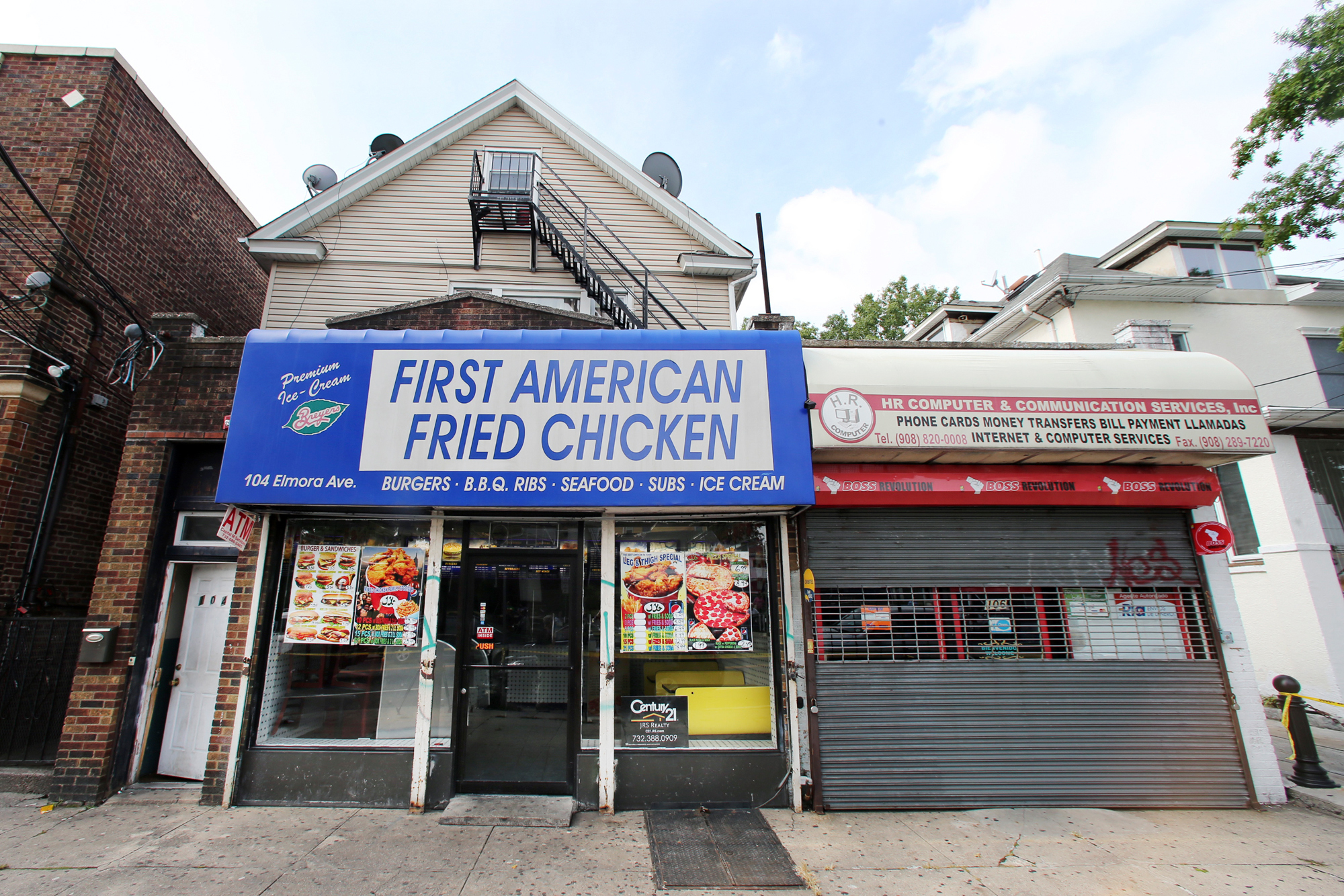 The First American Fried Chicken restaurant in Elizabeth, N.J. The restaurant saw its Yelp reviews plummet after the owner's son, Ahmad Khan Rahami, was arrested as a suspect in this month's bombings in New York and New Jersey.