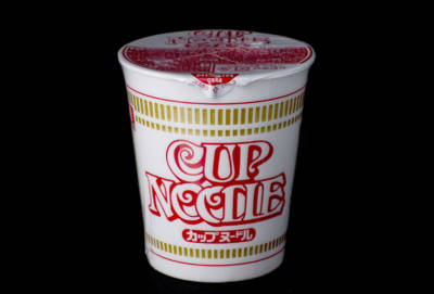 "Cup Noodles — sold in Japan as Cup Noodle (no ""s"")."