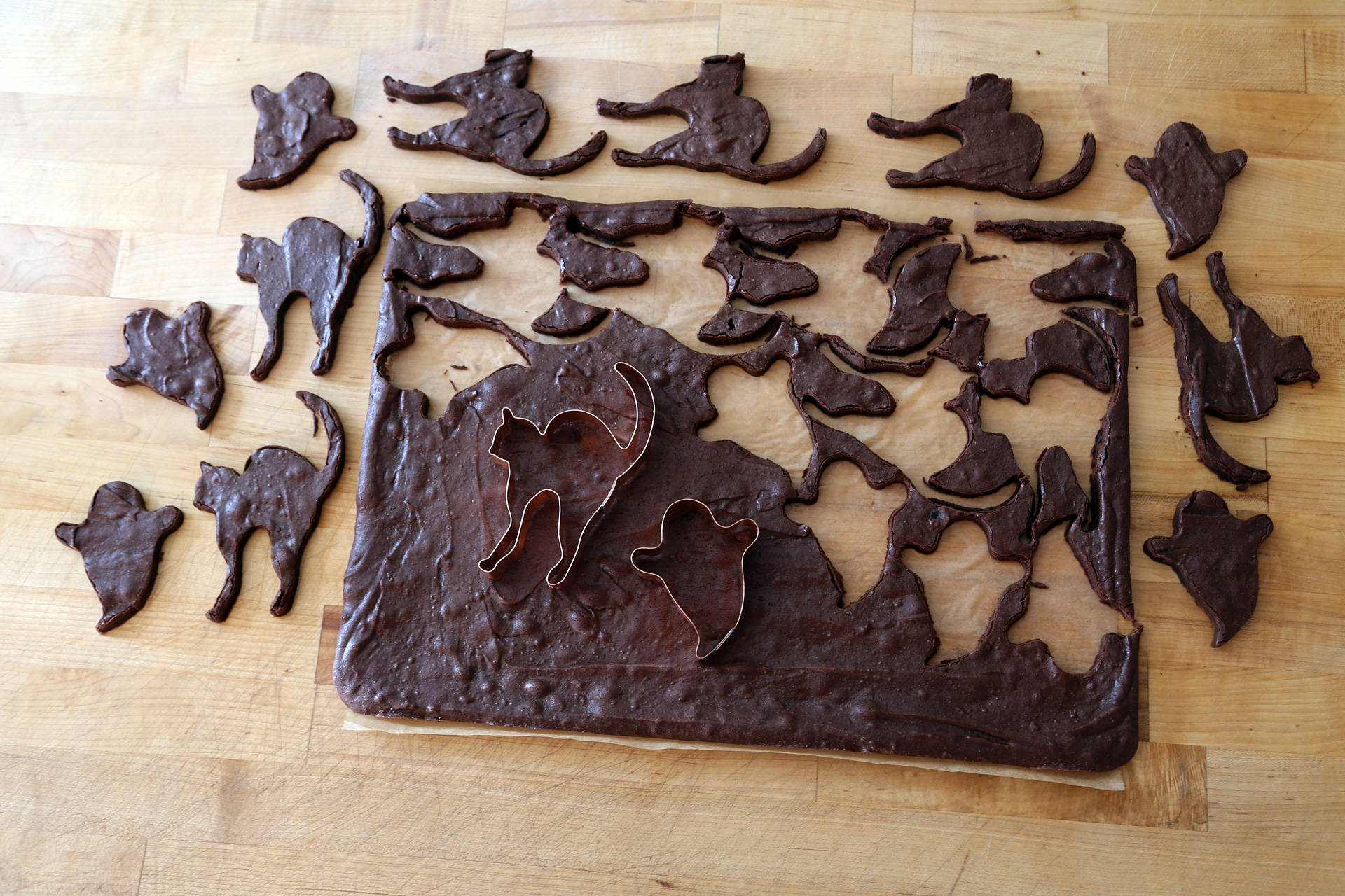 chewy chocolate cut out brownie cookies wendy goodfriend