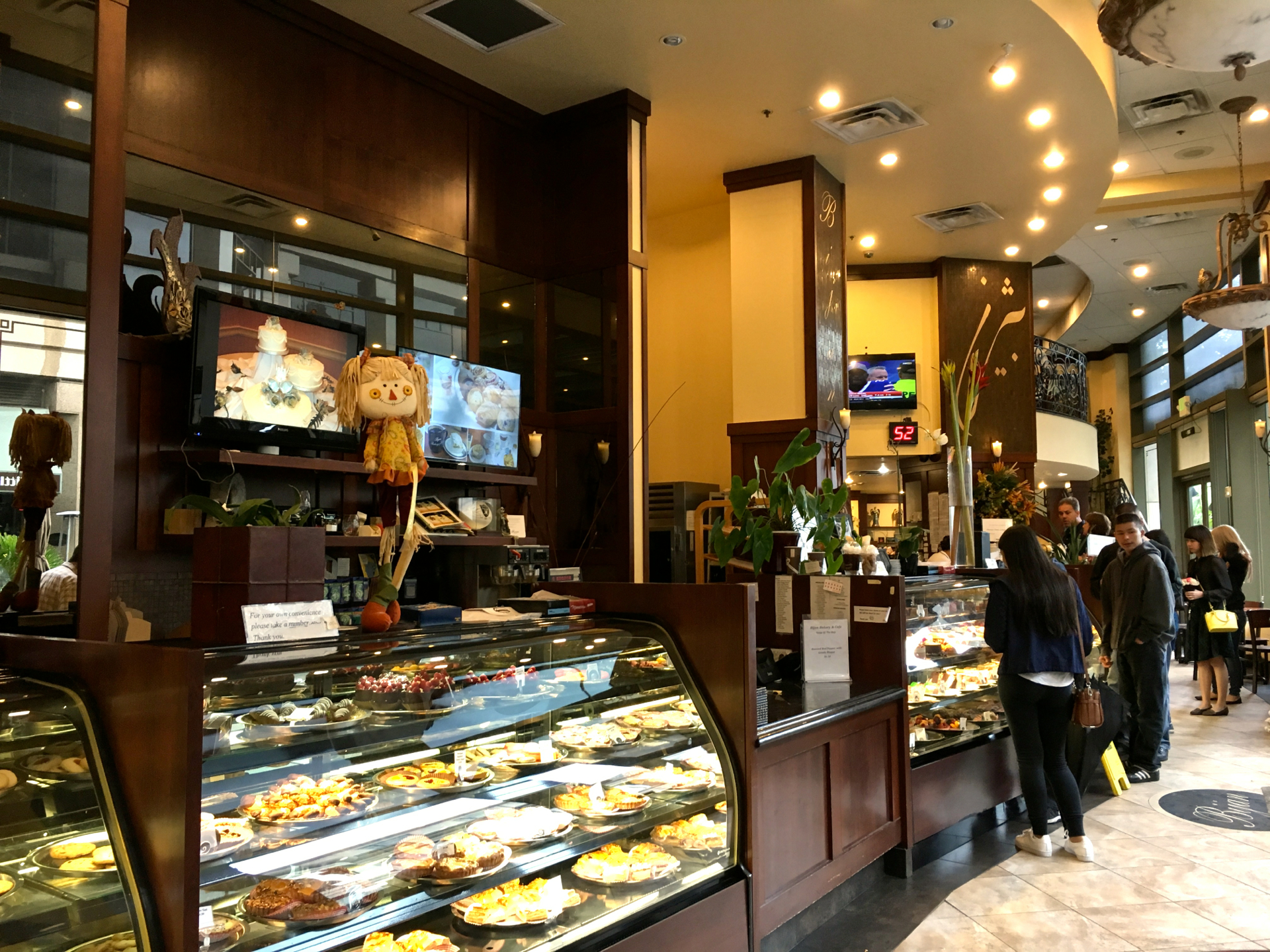 Inside Bijan Bakery & Cafe.