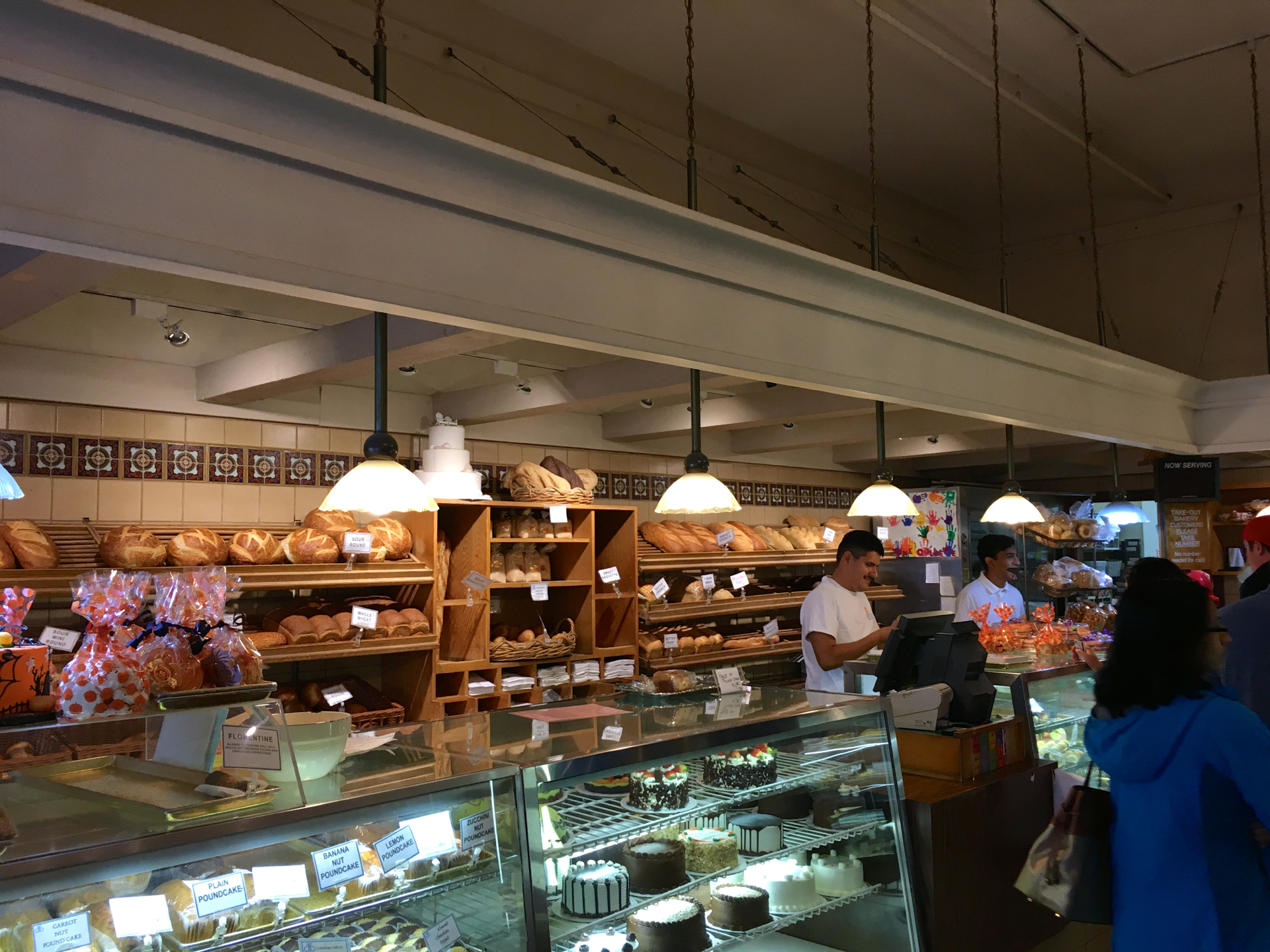 Inside Copenhagen Bakery in Burlingame.