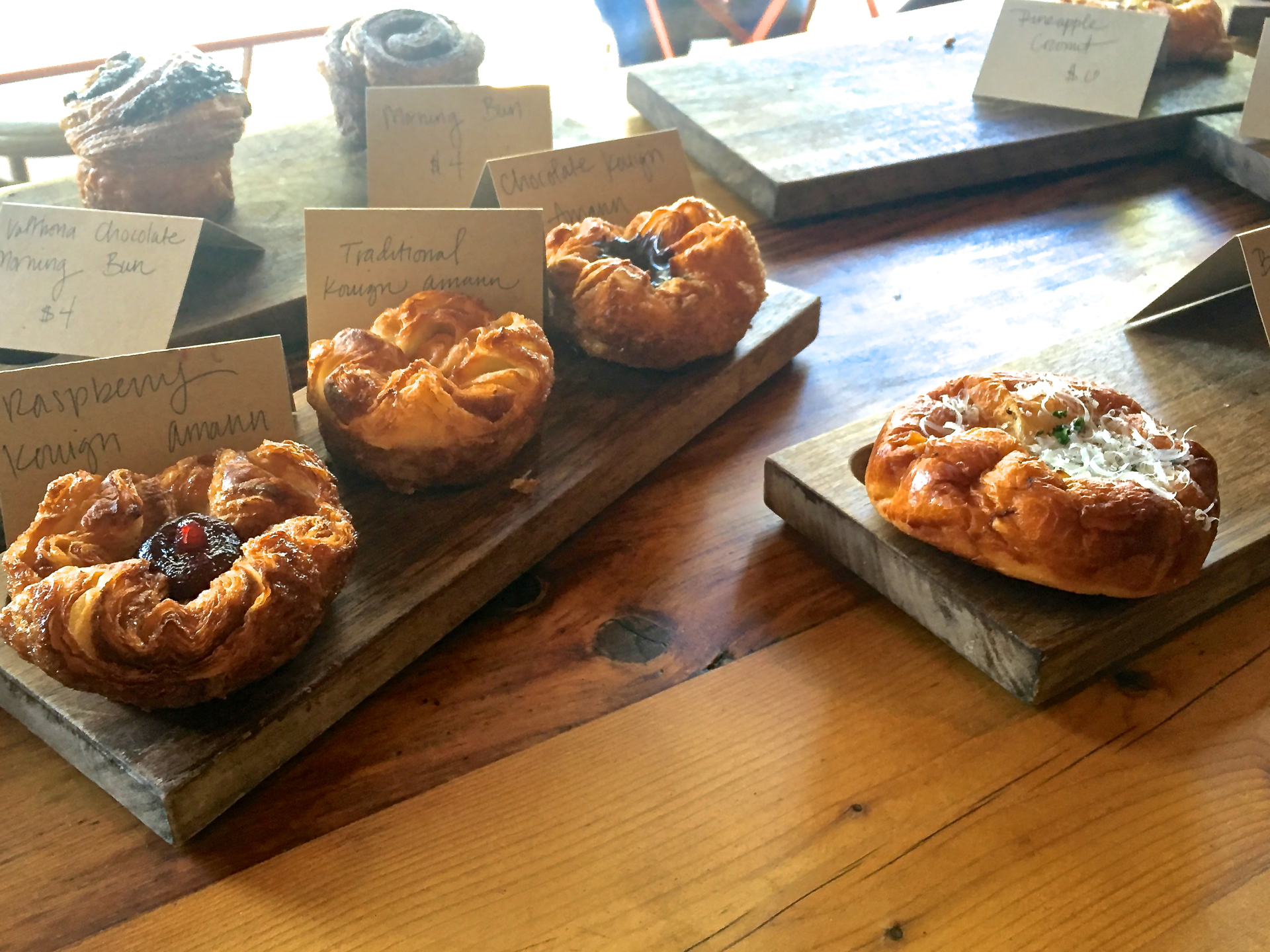 Pastries on display at a recent LoveForButter pop-up.