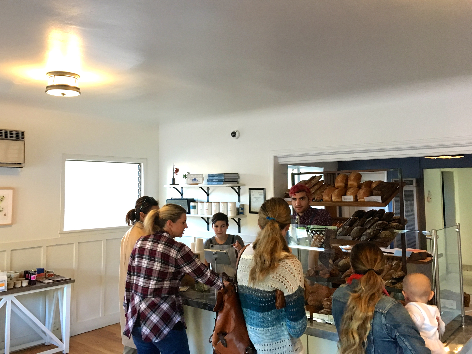 Inside Manresa Bread in Los Gatos.