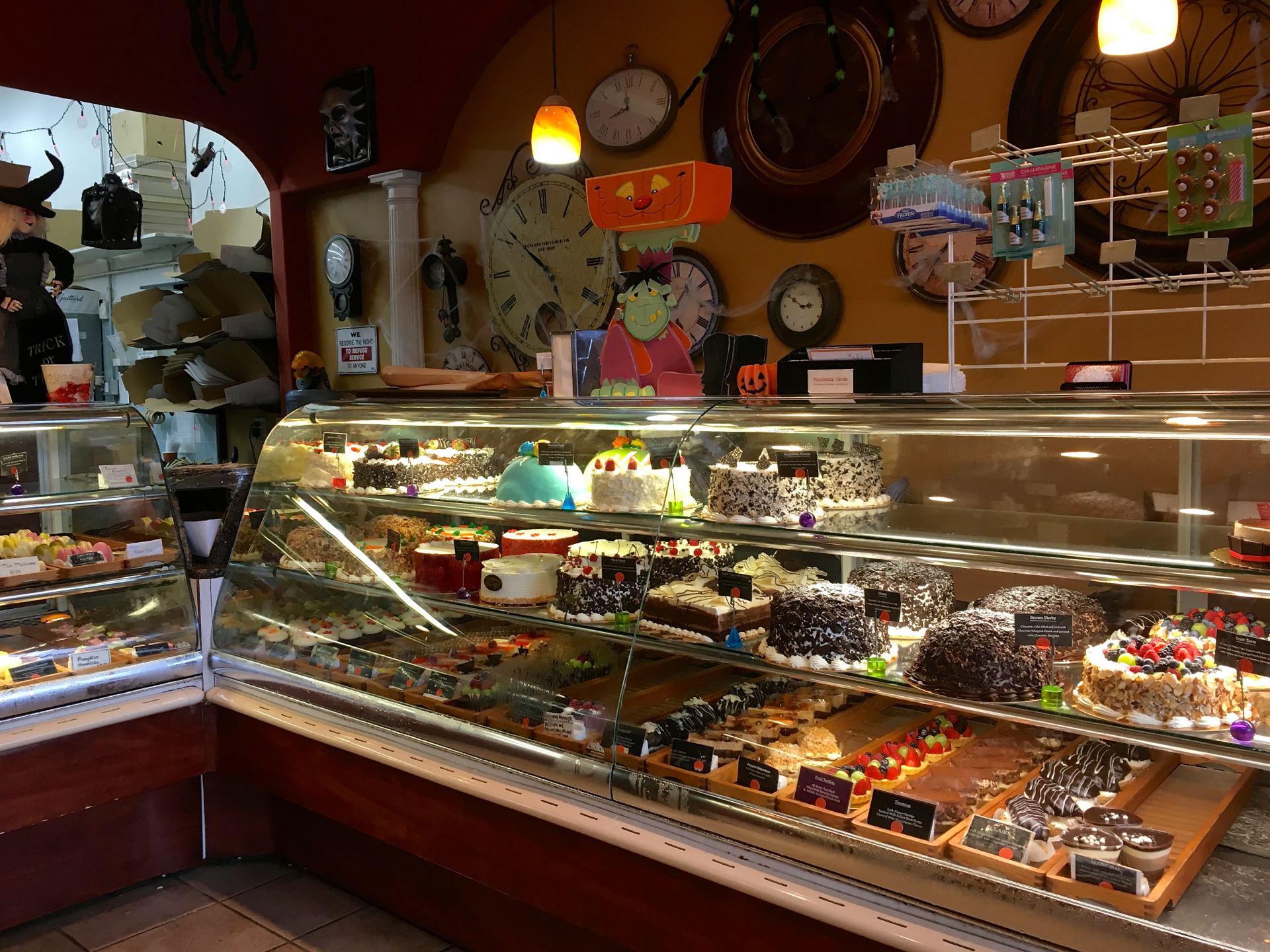 The pastry case inside La Patisserie Bakery in Cupertino.