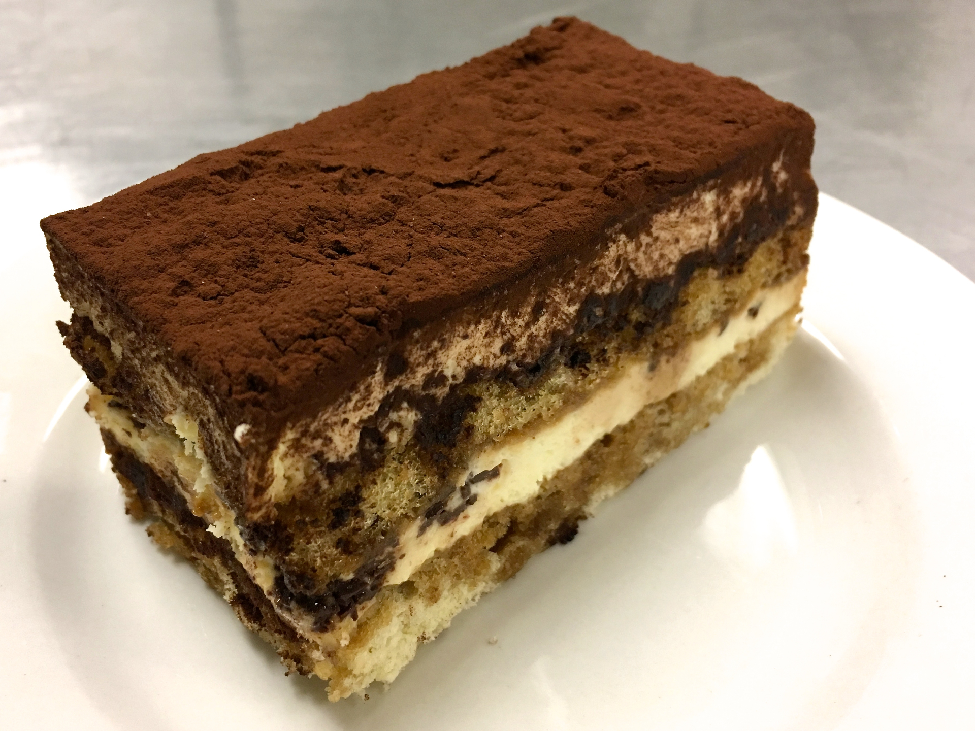 A tiramisu pastry from La Patisserie Bakery.