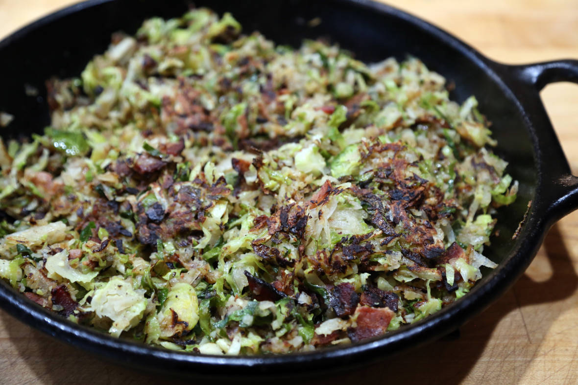 Thanksgiving Recipe: Crispy Brussels Sprouts Hash