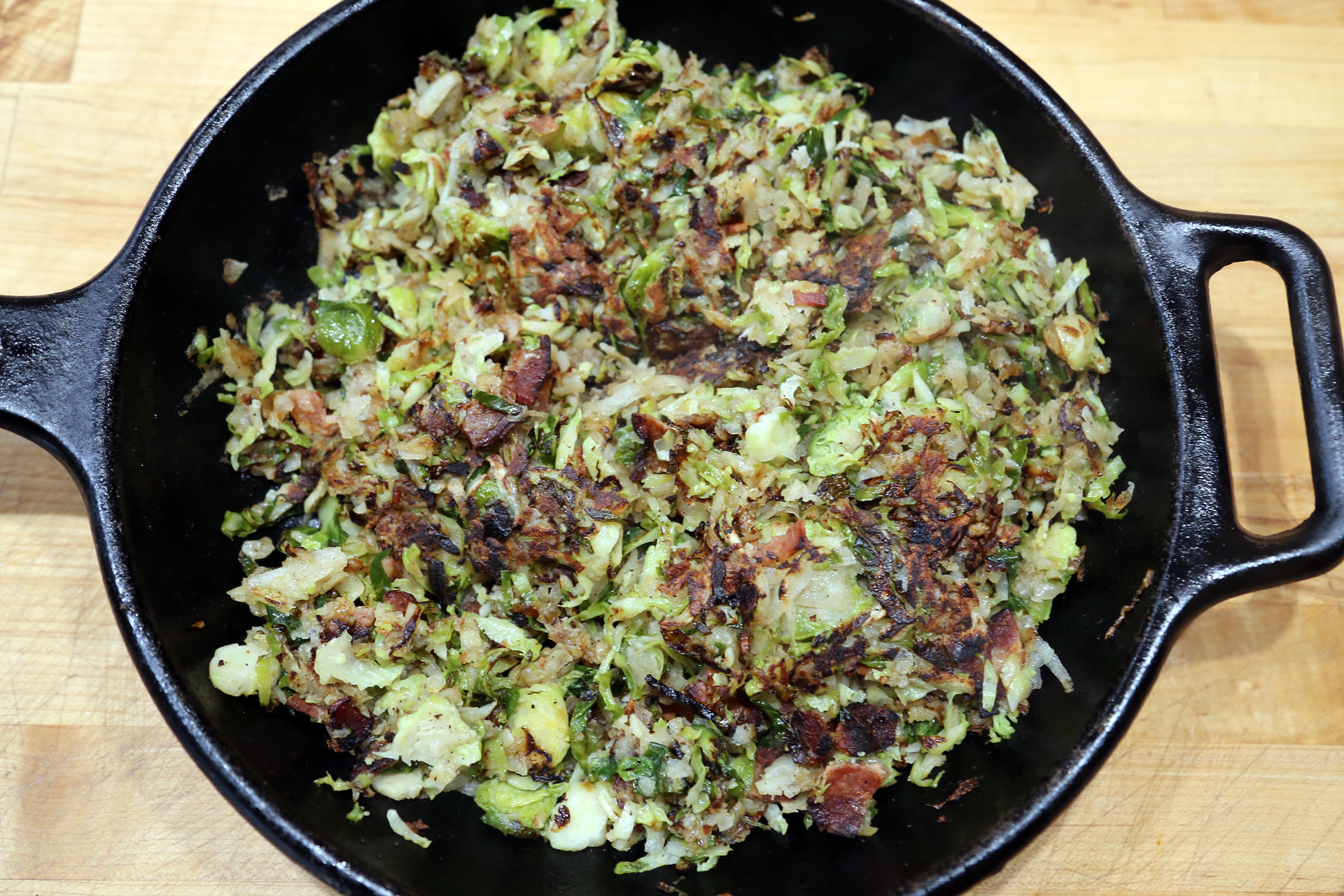 Crispy Brussels Sprouts Hash