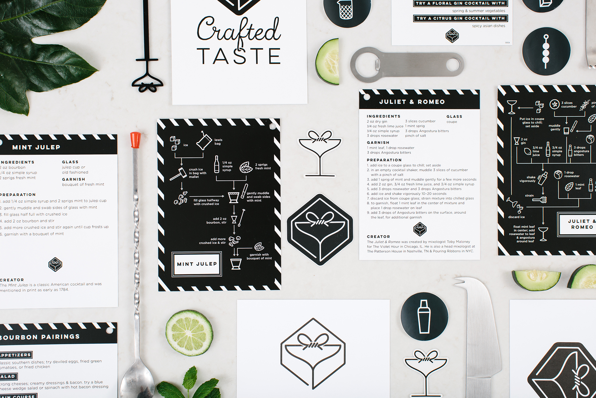 """We're not just sending a bunch of ingredients and a recipe,"" explains founder and CEO of Crafted Taste, Kat Rudberg. ""We want our subscribers to get a cocktail education.""To that end, its kits feature recipes for drinks ranging from classic to creative and information on bartending techniques."