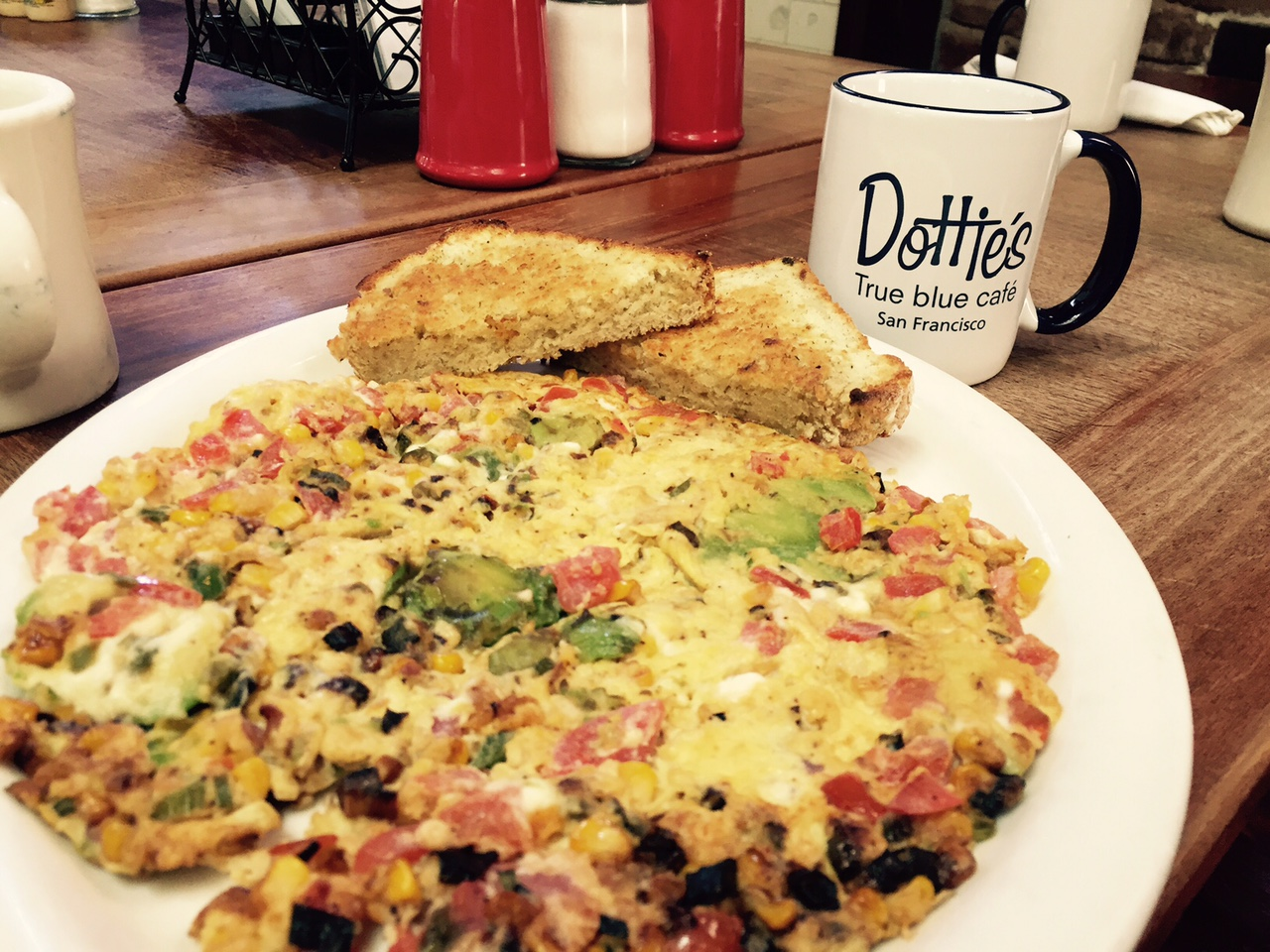 The scramble at Dottie's True Blue Cafe.