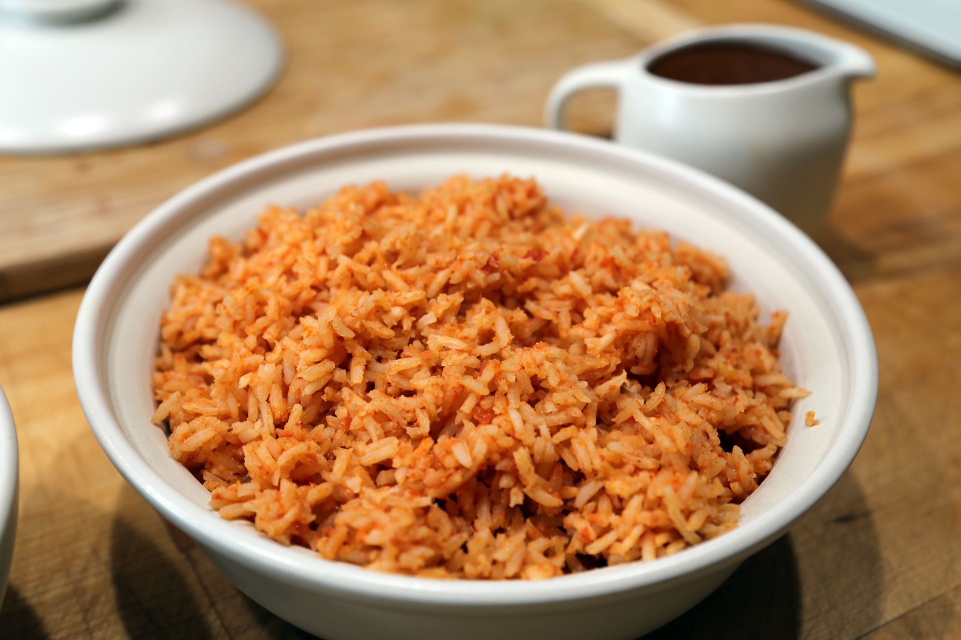 Mexican-Style Rice with Mole Gravy