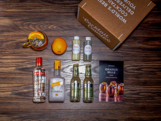 As meal kits gain market share, craft cocktail subscription boxes have followed. Each service has a different take on the model. Some, like Cocktail Courier, deliver mini bottles of alcohol — just enough to make the featured recipe, like the ingredients for an Orange Mule.