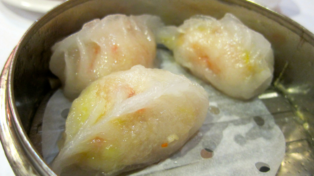 Steamed Dungeness crab dumplings at East Ocean Seafood Restaurant.