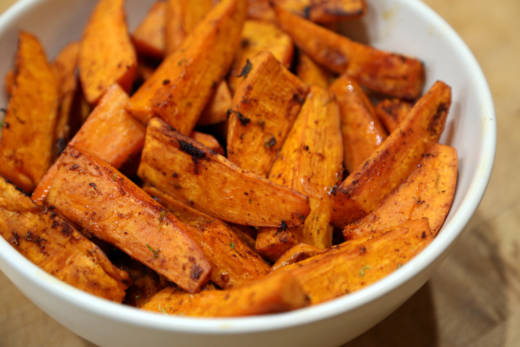 Roasted Chile and Lime Sweet Potatoes