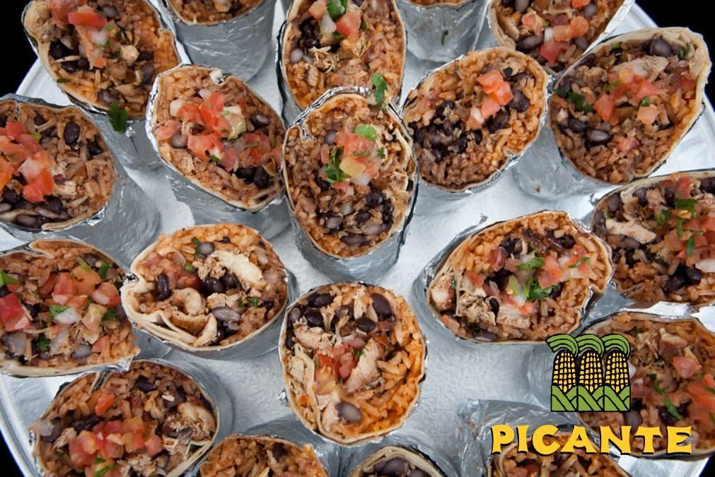 Picante's burrito platter