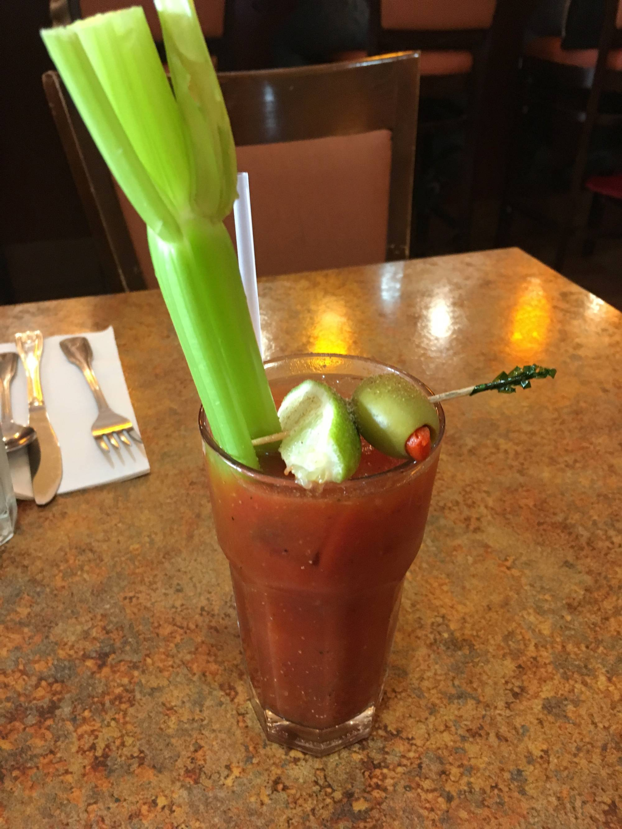 A Bloody Mary at Bill's Cafe.