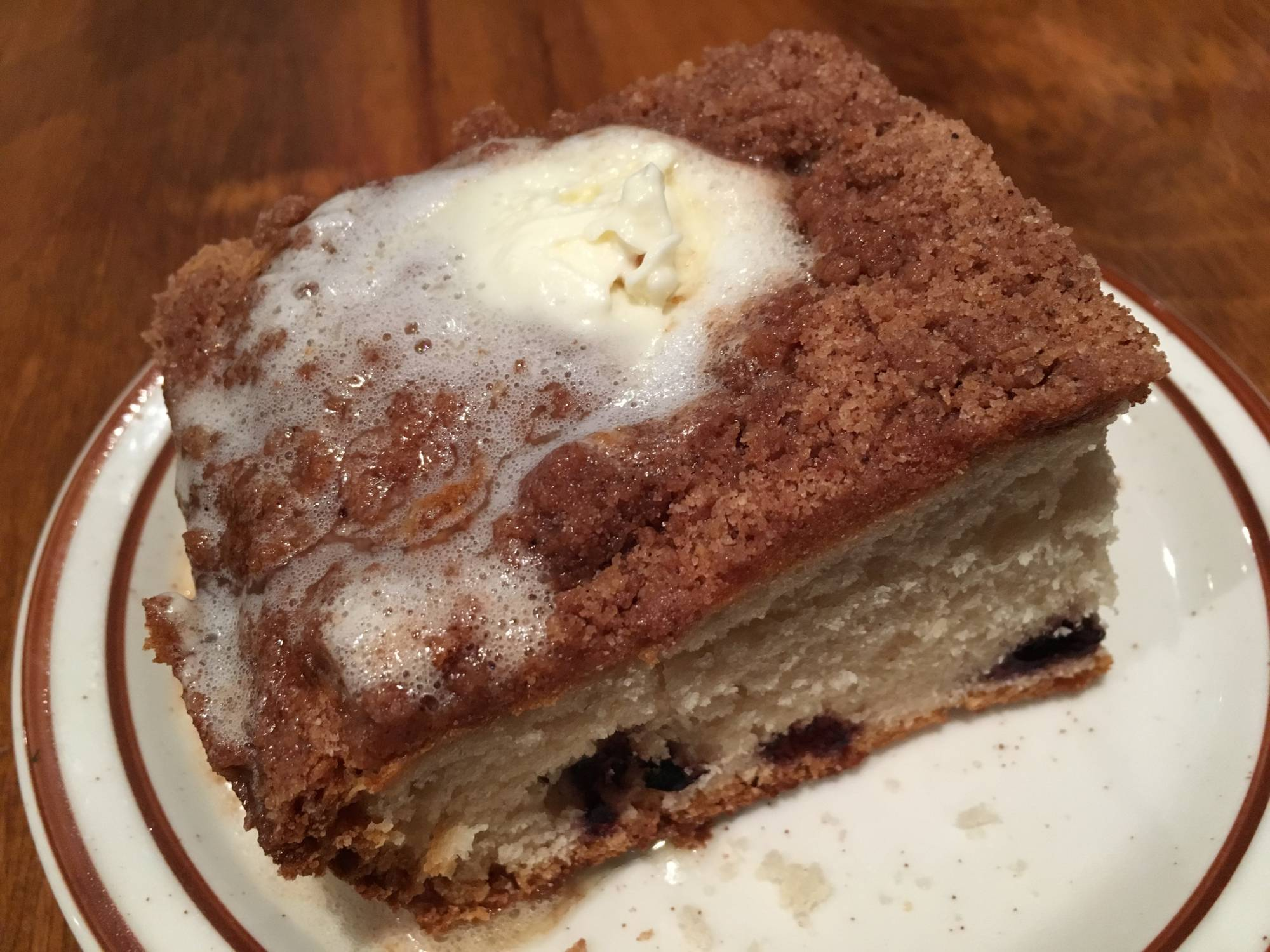 The Blueberry Coffee Cake at Hobee's in Palo Alto.