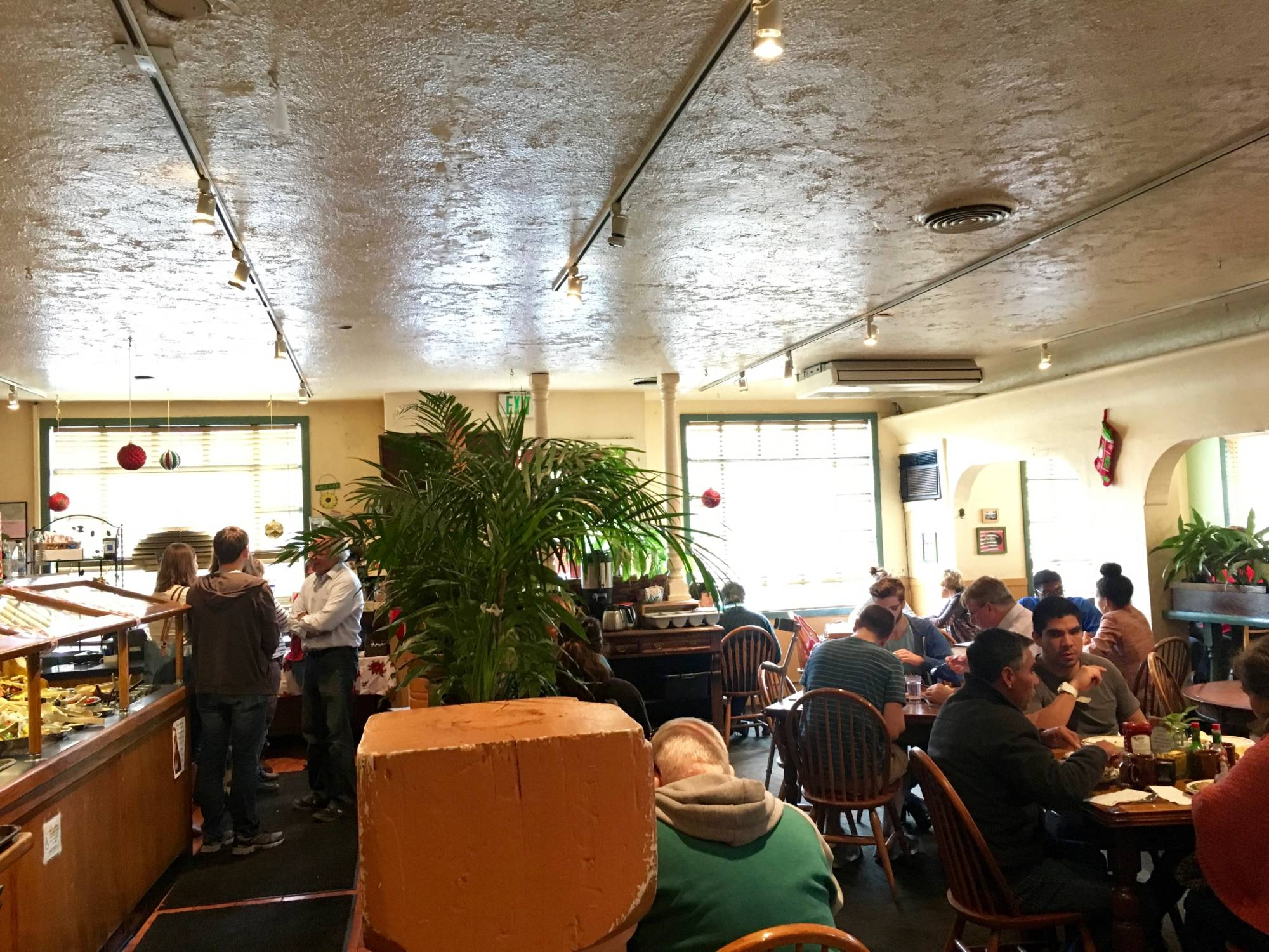 Inside Hobee's in Palo Alto.