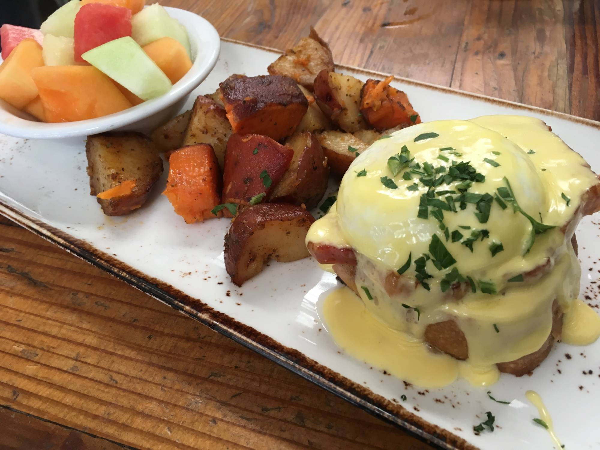 A half order of the Eggs Benedict at Local Union 271.