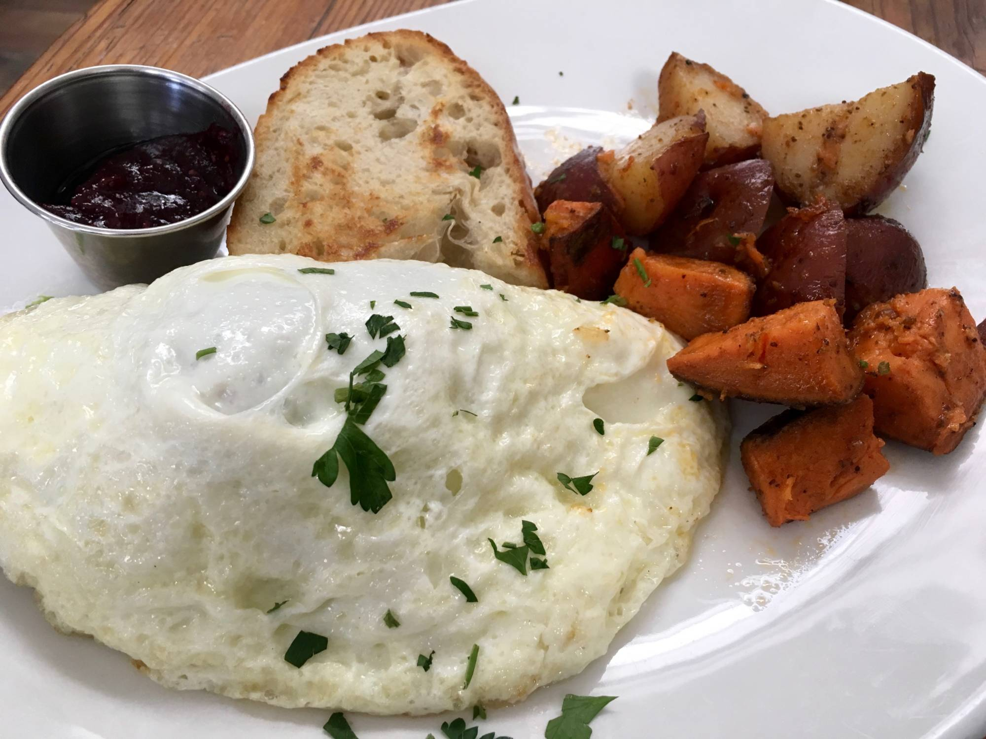 The Diestel Turkey Egg White Omelet at Local Union 271.