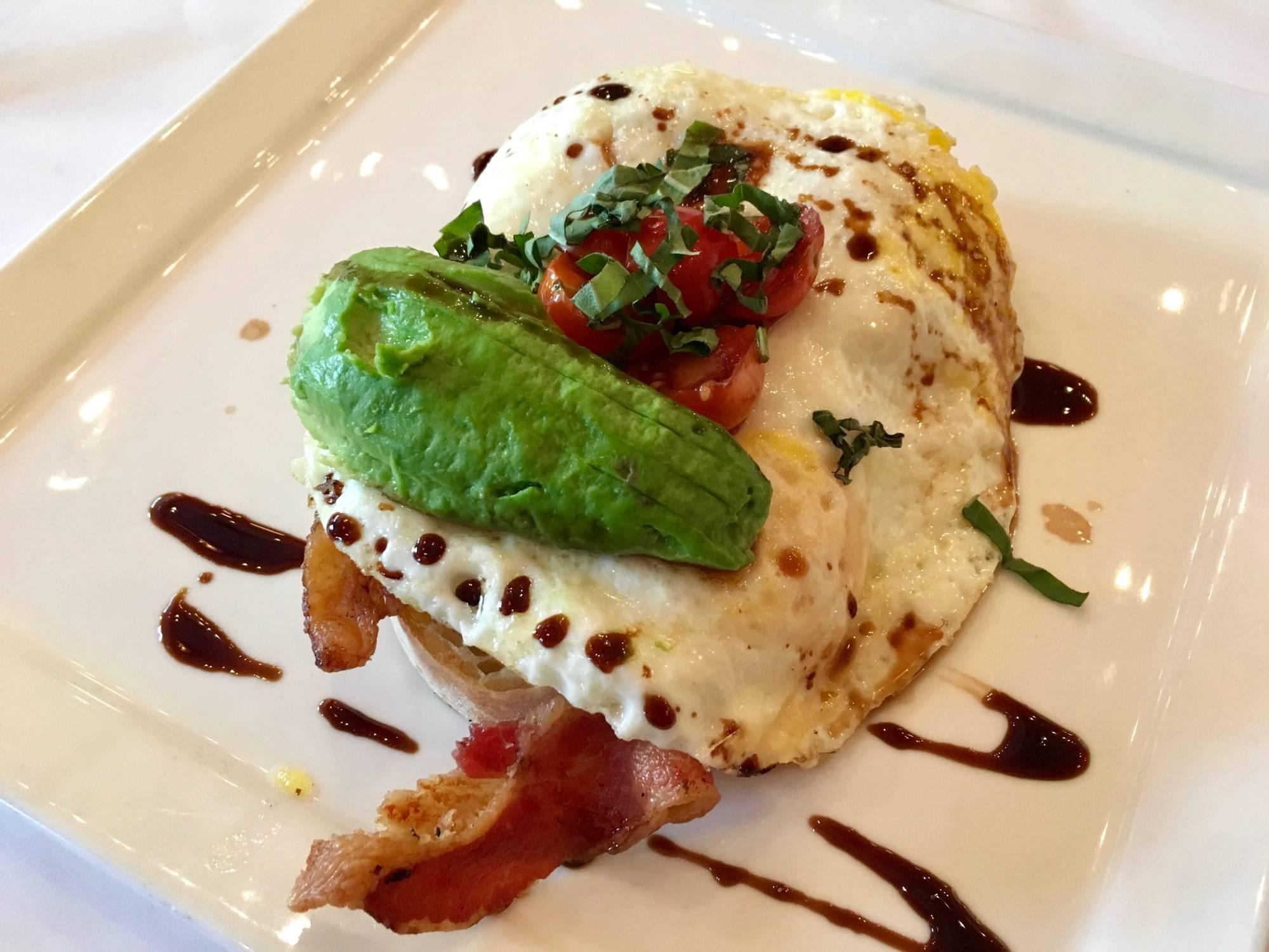 The Egg Bruschetta at Village California Bistro and Wine Bar.
