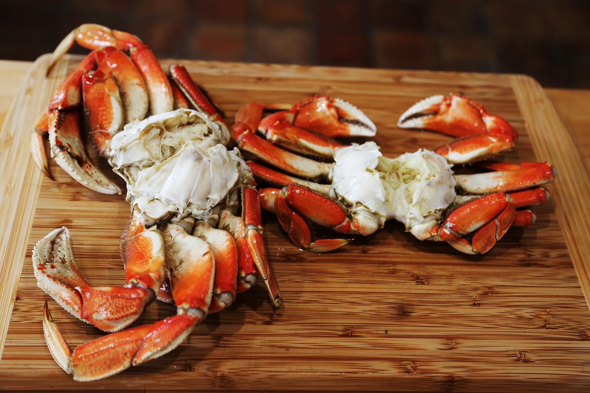 Fresh cleaned crab