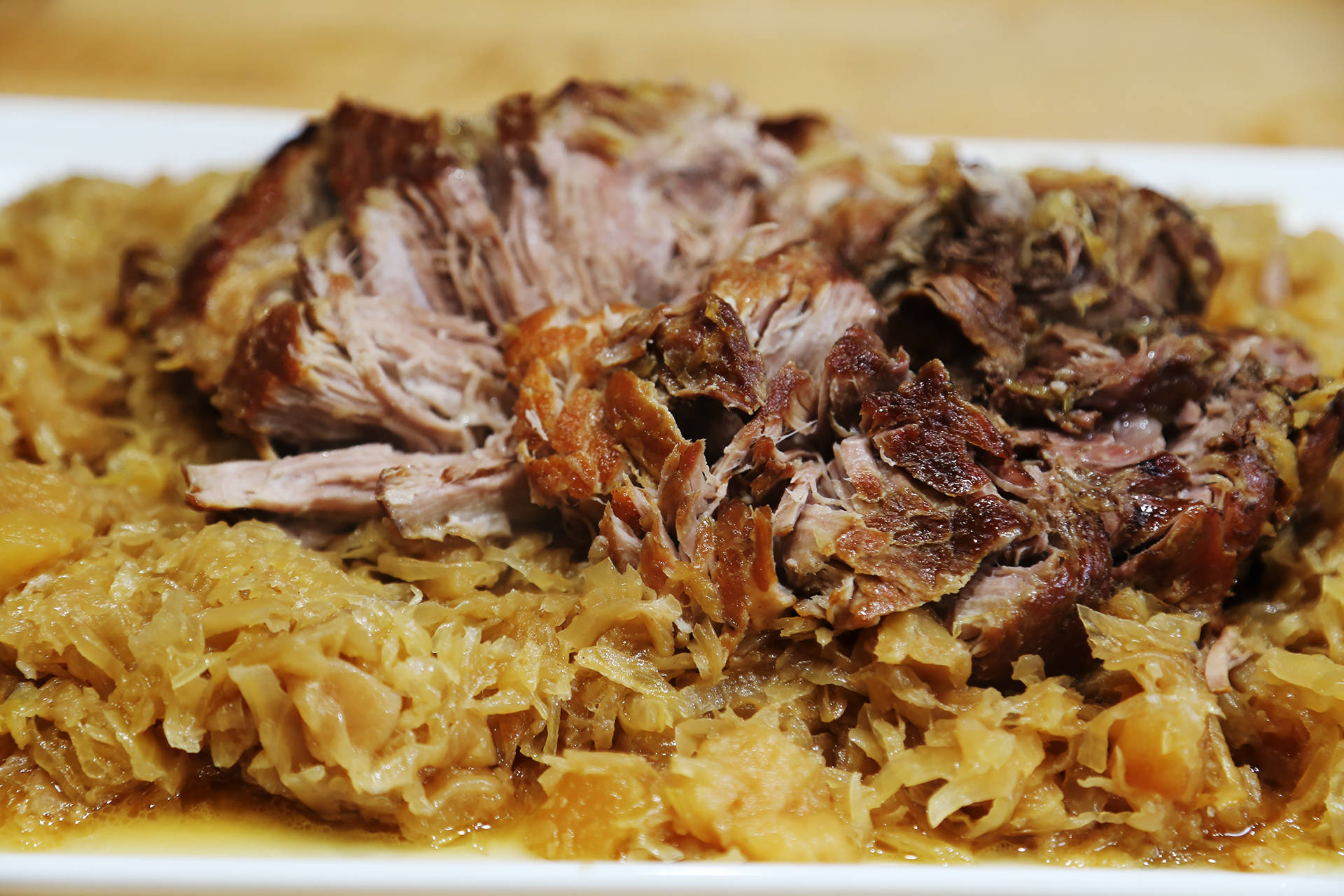 New Year's Day: Braised Pork Shoulder with Sauerkraut and ...