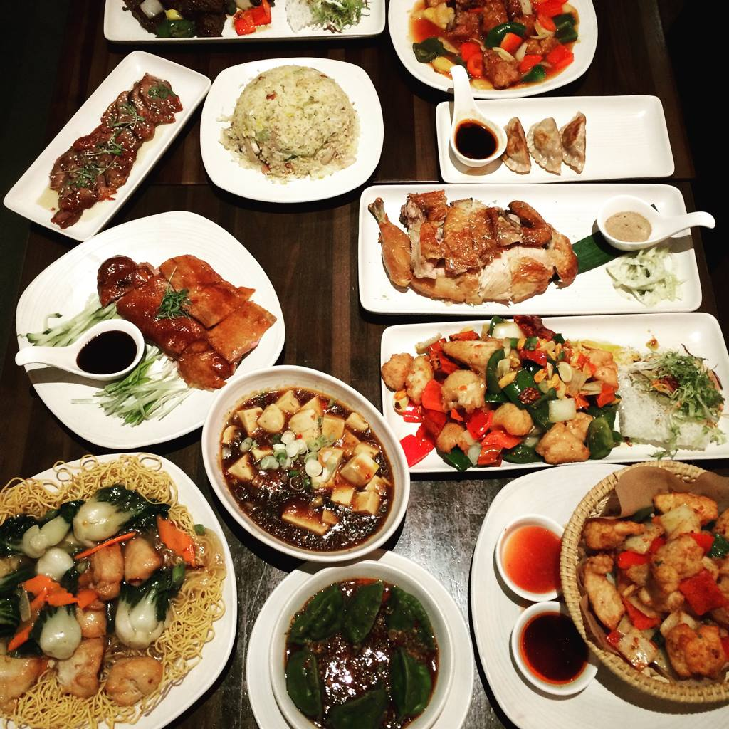 A table spread at M.Y. China