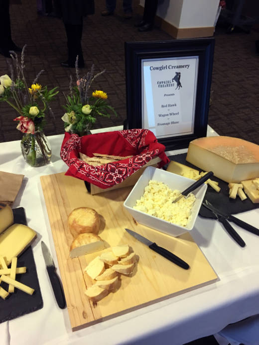 Cowgirl Cheese: A display of cheese from Cowgirl Creamery