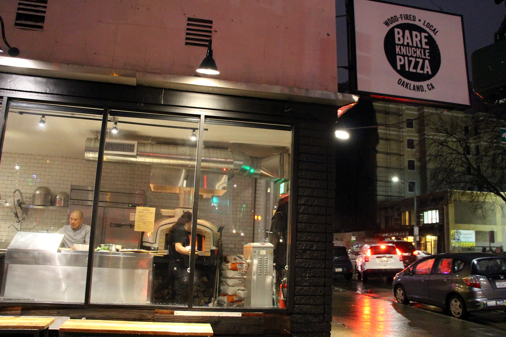 Bare Knuckle Pizza is located on the edge of Oakland's Chinatown.