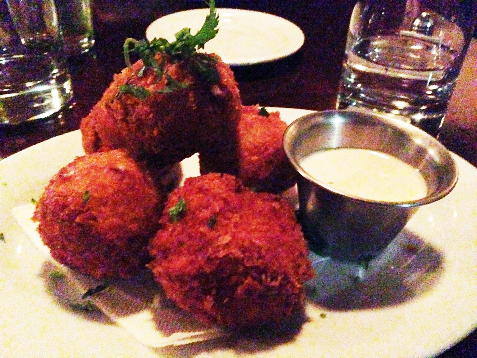 Mac and cheese fritters at Luka's in Oakland.