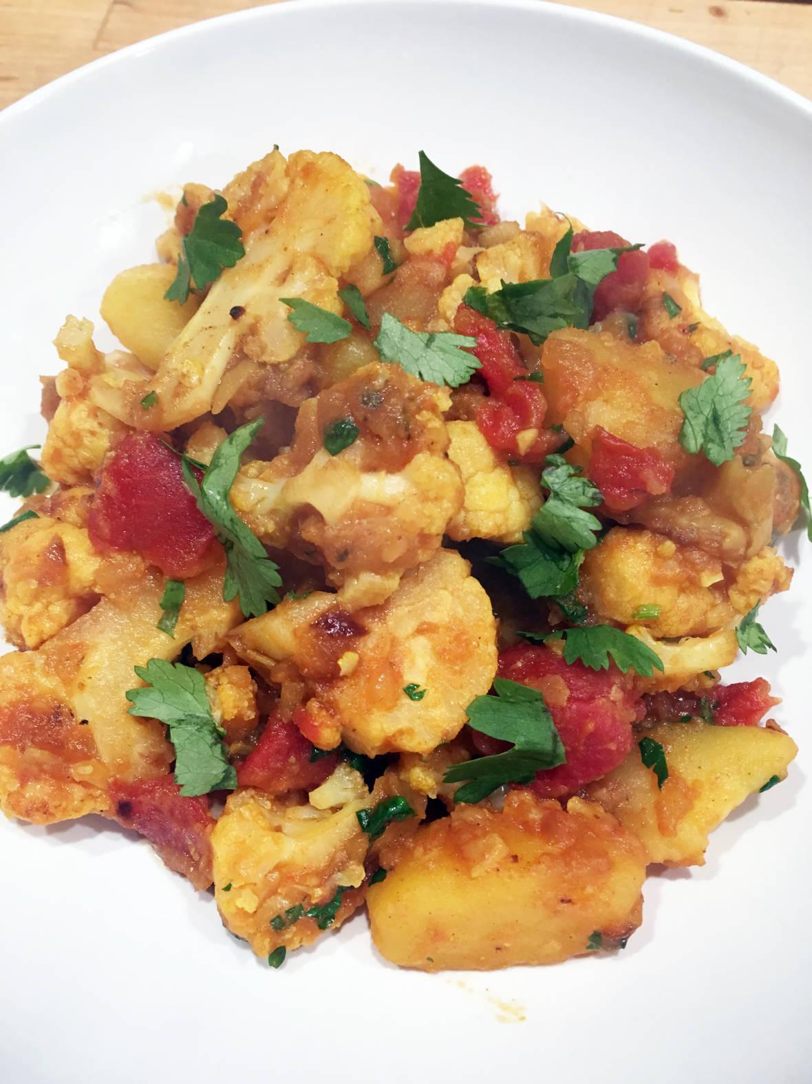 Healthy Comfort Food:  Vegan Cauliflower and Potato Curry