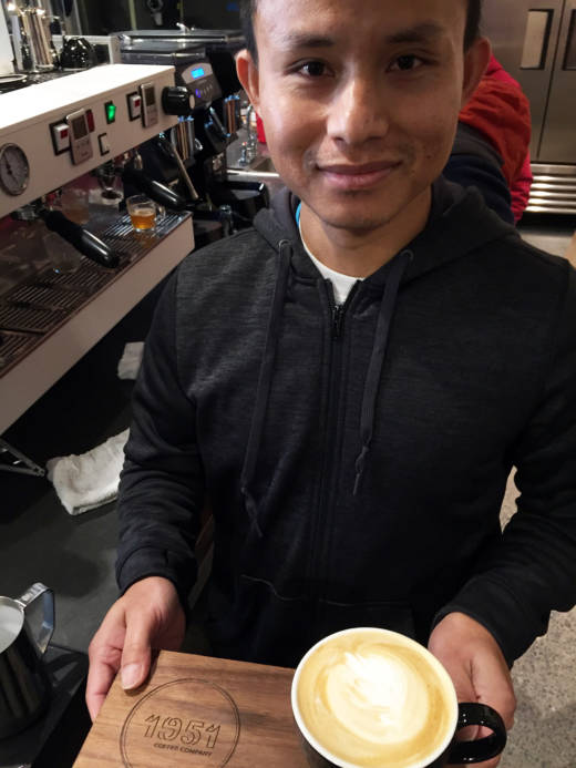 All the baristas working at Berkeley's 1951 Coffee Company are recent refugees