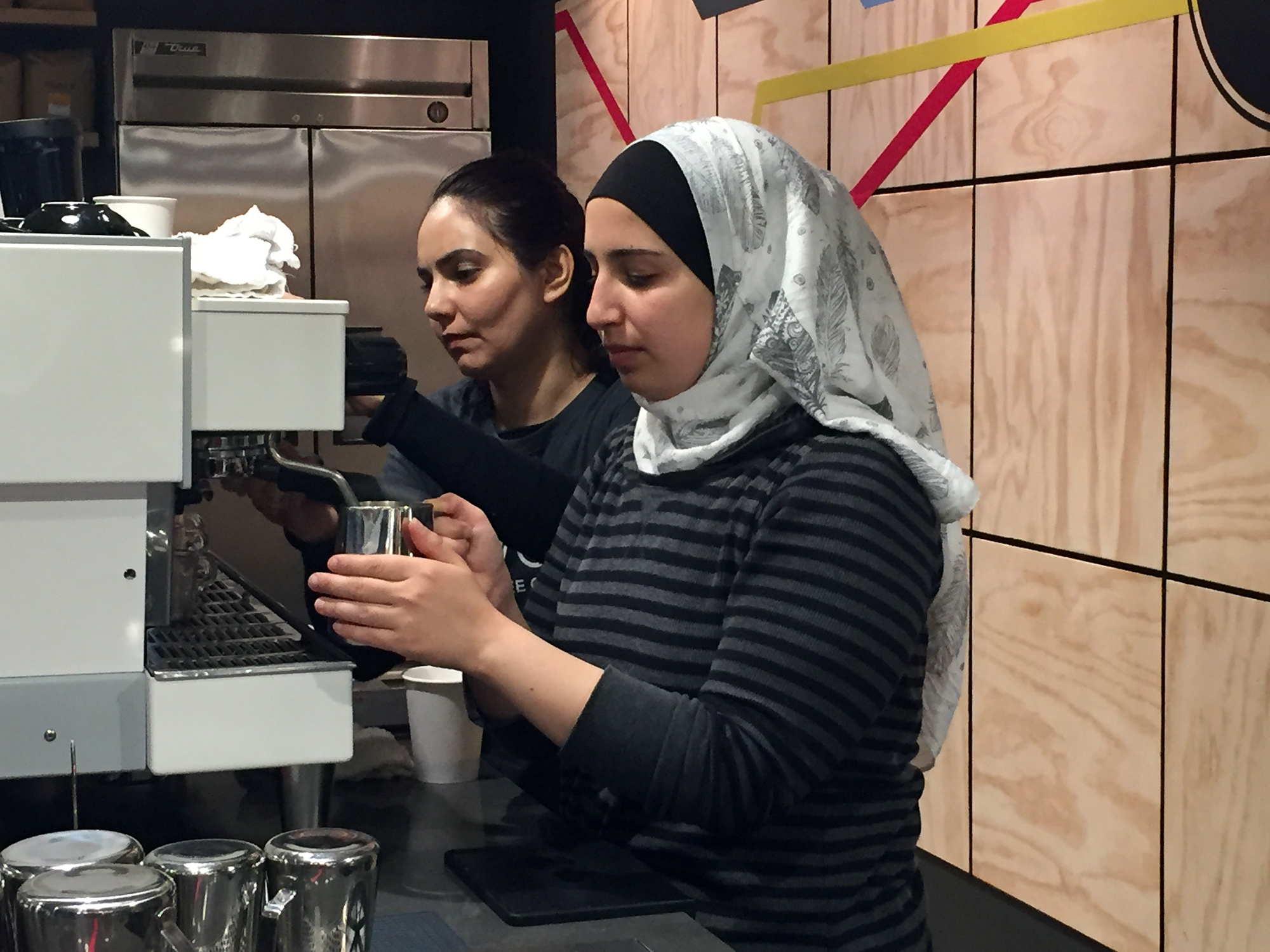 Nazira works with Batool, a Syrian refugee who was interviewed on The California Report. See link below to hear her family's story.