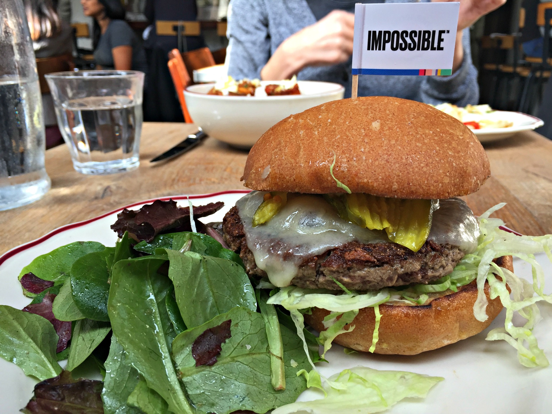 The Impossible Burger at Cockscomb in San Francisco.
