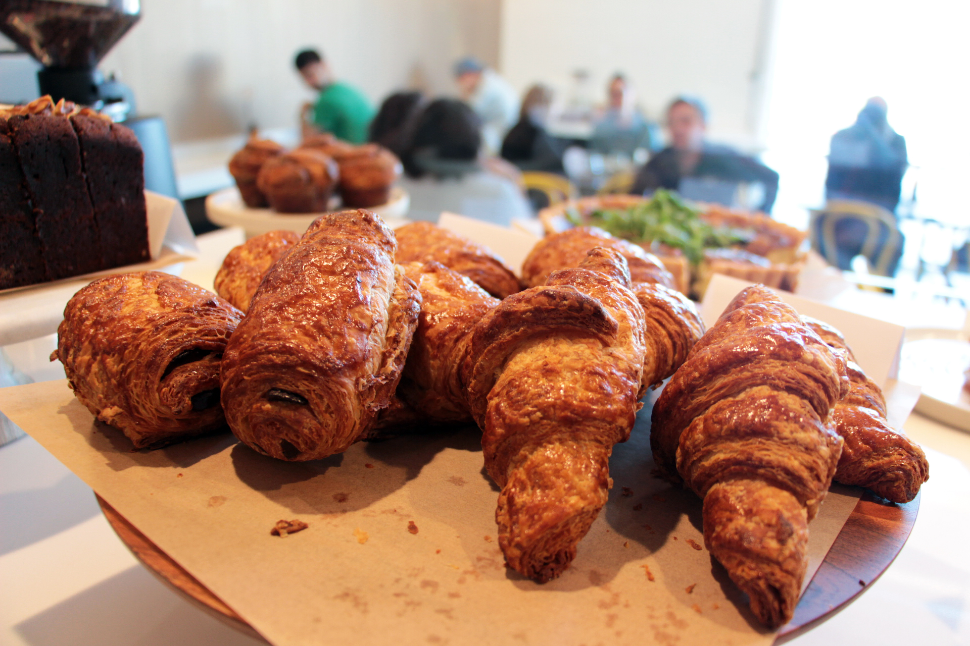 Buttery housemade croissants