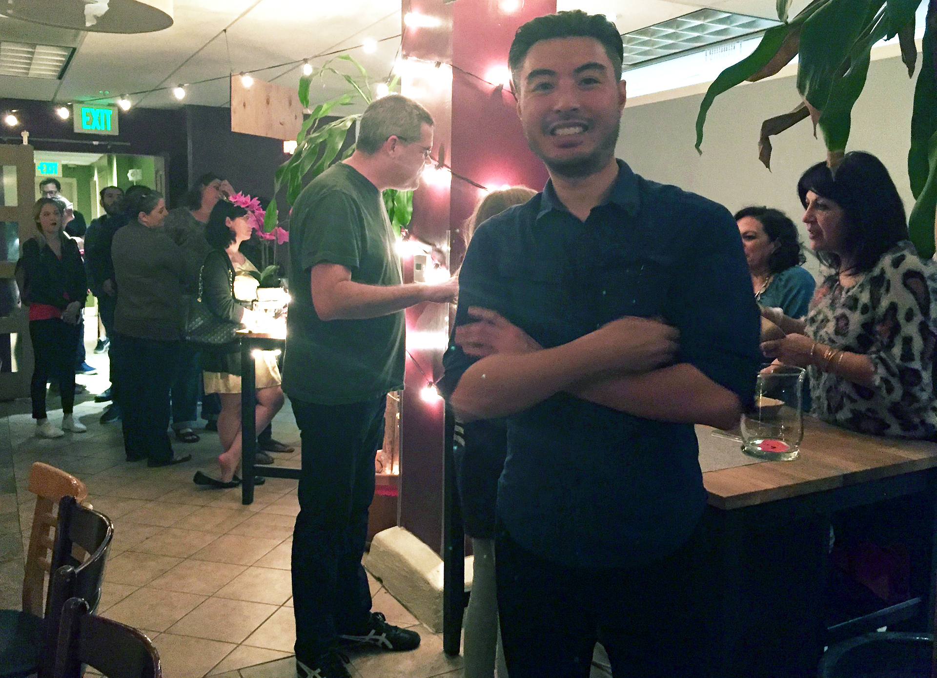 Seanathan Chow, founder of Oakland Bloom, at March 12 Night Market Pop-up Dinner.
