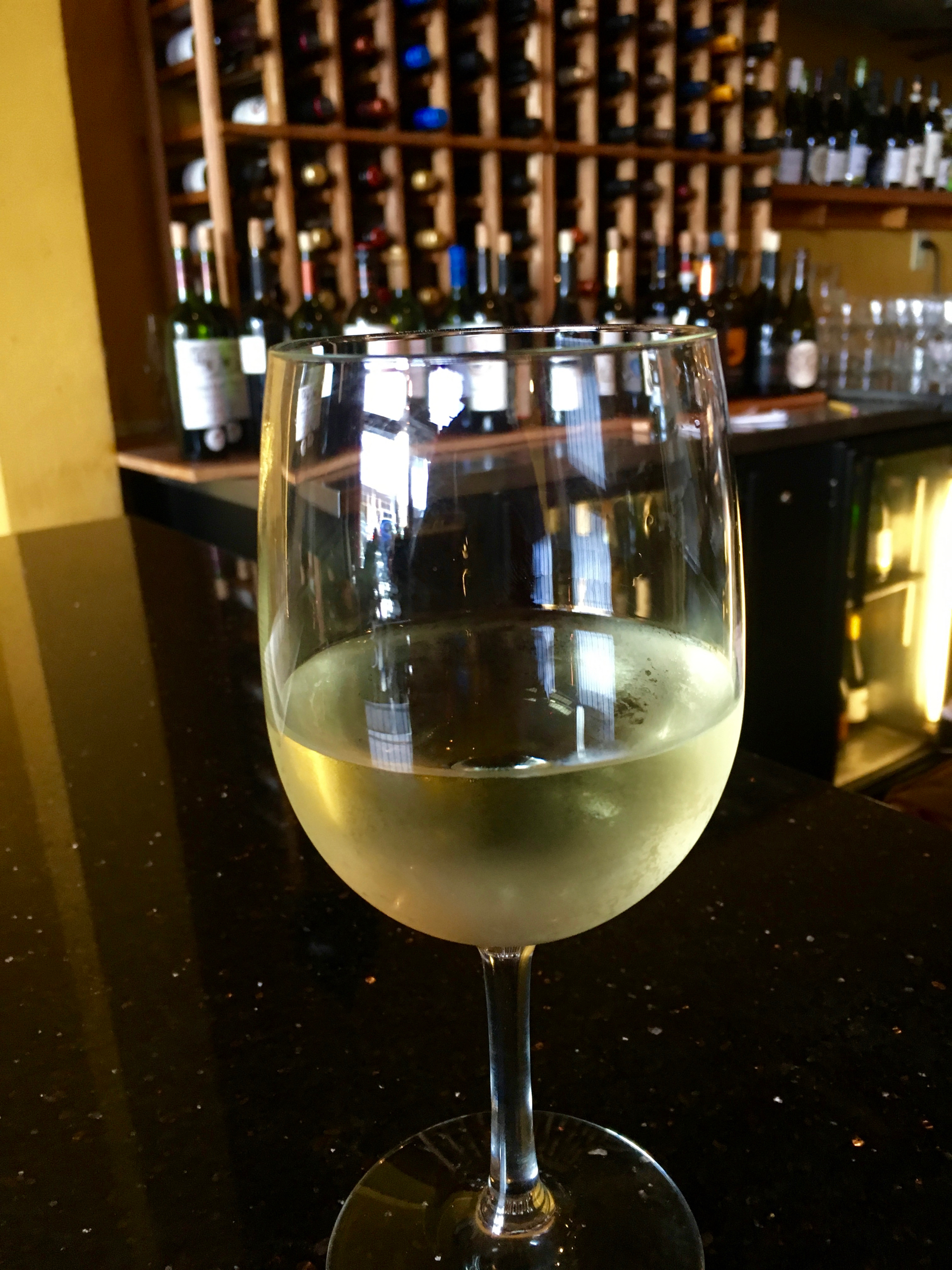 A glass of sauvignon blanc at B Street & Vine.